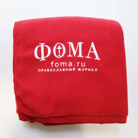 Флисовый плед с логотипом