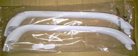 Комплект ручек двери для холодильника Bosch (Бош) 320mm белые- 00369542, 00481302 (комплект с заглушками)