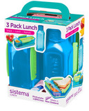 Набор Lunch: 2 контейнера и бутылка 475мл, артикул 1595, производитель - Sistema, фото 3