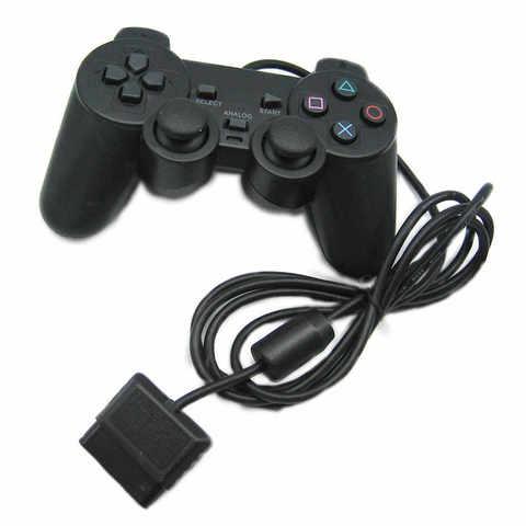 PS2 Контроллер игровой проводной (черный, оригинал)