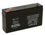 Аккумулятор General Security GS 1,3-6 ( GS6-1.3 ) ( 6V 1,3Ah / 6В 1,3Ач ) - фотография