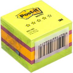 Стикеры Post-it Original Весна 51х51 мм неоновые 3 цвета (1 блок, 400 листов)