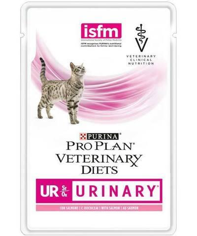 Veterinary diets UR - при мочекаменной болезни, лосось 85 г