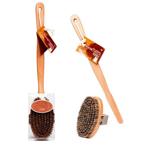 Массажная щетка из древесины и натуральной щетиной Forster's со съемной ручкой