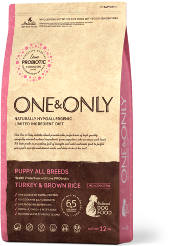 One&Only Puppy All Breeds Turkey & Brown Rice