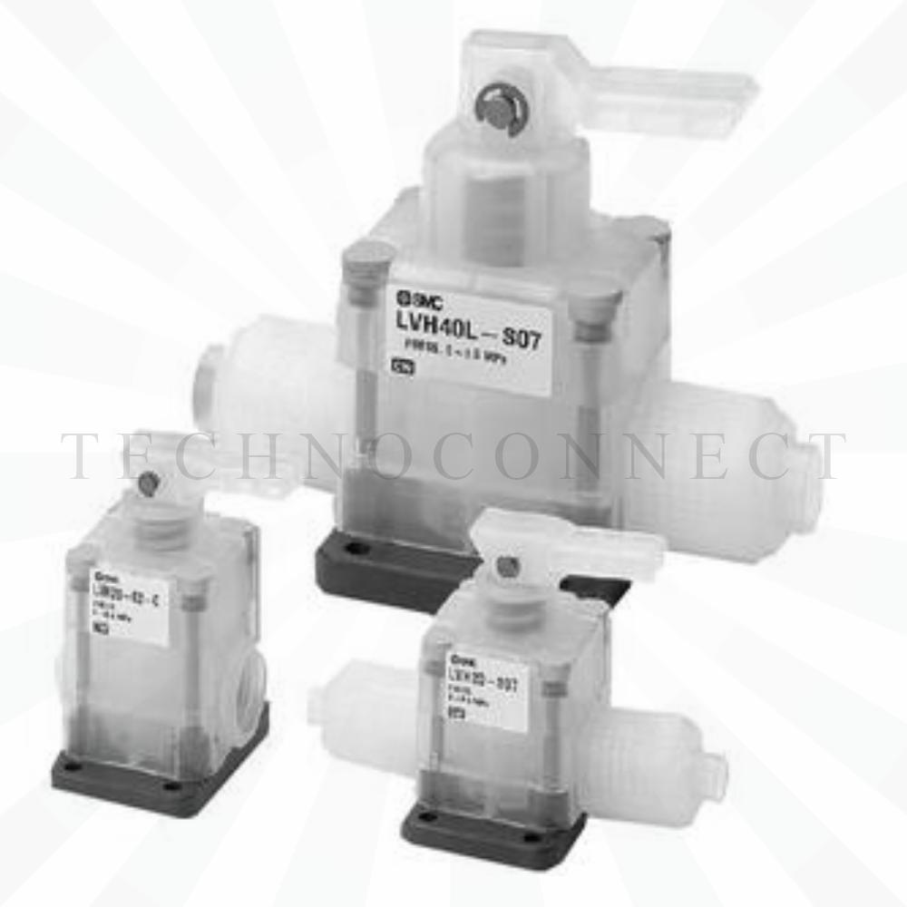 LVH30L-03-C   2/2 Клапан с ручным упр., Н.З., Rc3/8
