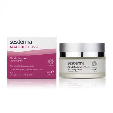 SESDERMA | Крем питательный с гликолевой кислотой / ACGLICOLIC CLASSIC Nourishing cream, (50 мл)