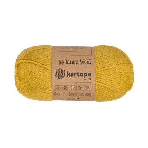 Пряжа Kartopu Melange Wool арт. 3063 горчица