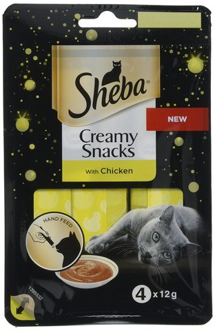 Sheba крем-лакомство курица 4*12г