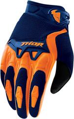 Мотоперчатки - THOR SPECTRUM (сине-оранжевые)