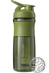 BlenderBottle SportMixer, Универсальная Спортивная бутылка-шейкер с венчиком.  Moss-Green-оливковый 828 мл cat