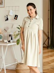 Летнее платье для беременных Polo Sorento бежевое