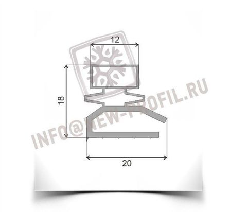 Уплотнитель см для холодильника Саратов 557(стекл.дверь). Размер 1790*580 мм (013)