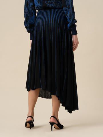 Женская юбка асимметричного кроя черного цвета из вискозы - фото 4