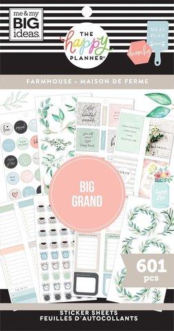 Блокнот со стикерами для ежедневника Create 365 Happy Planner Sticker Value Pack-BIG FARM HOUSE - 601 шт