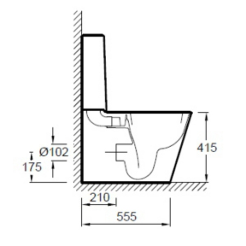 Унитаз напольный с бачком и сиденьем микролифт Jacob Delafon Reve E5033K схема
