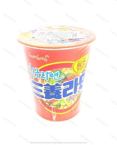 Корейская лапша со вкусом бекона в стакане Friend ramen, 65 гр.