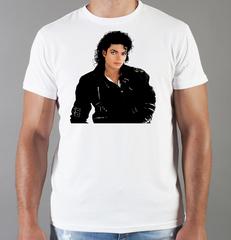 Футболка с принтом Майкл Джексон (Michael Jackson) белая 0016