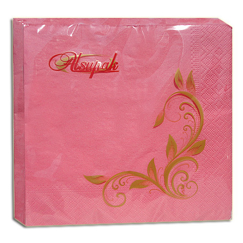 Салфетки 33х33 см розовые двухслойные 20 шт.