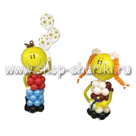 Школьники из воздушных шаров