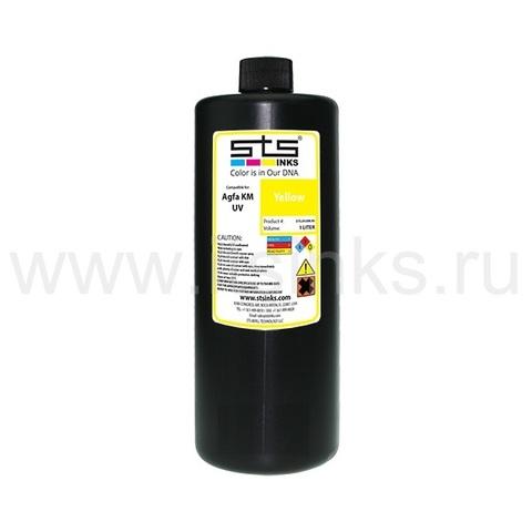 УФ - чернила STS для Agfa Jeti KM Yellow 1000 мл (UV LED)