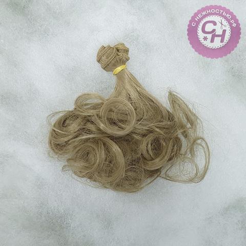Волосы для кукол, трессы кудри, 18 см*1 метр.
