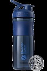 BlenderBottle SportMixer, Универсальная Спортивная бутылка-шейкер с венчиком.  Navy-неви 828 мл cat