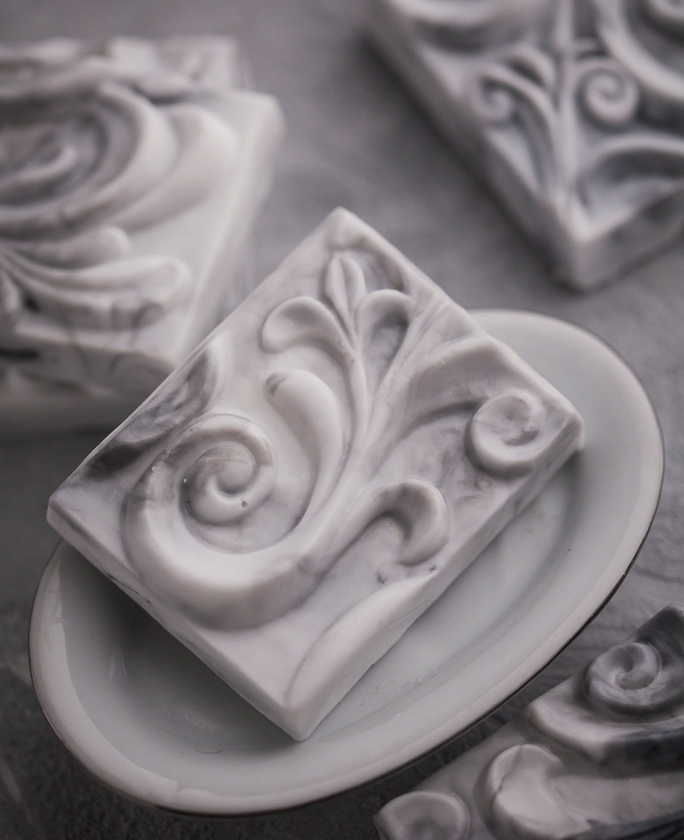 Форма для мыловарения Орнамент, под нарезку на 6 кусков