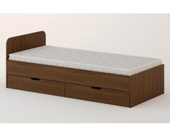 Кровать КР-07 орех темный