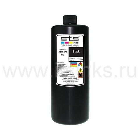 УФ - чернила STS для Agfa Jeti KM Black 1000 мл (UV LED)