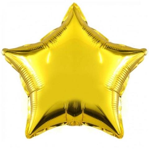 Шар Звезда золотая, 81 см