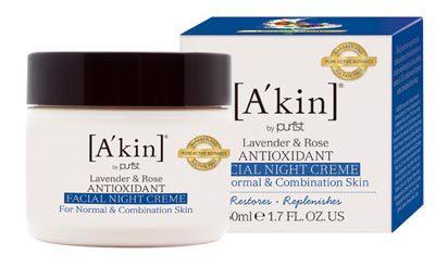 Восстанавливающий антиоксидантный ночной крем для лица «Лаванда и Роза», A'kin