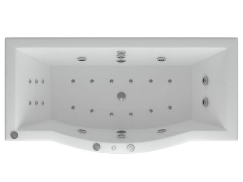 Ванна акриловая Aquatek Гелиос 180х90см. на каркасе и сливом-переливом.