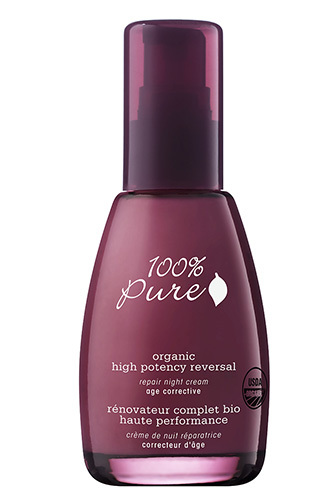 Органический восстанавливающий ночной крем для лица «Эффективное омоложение», 100% Pure