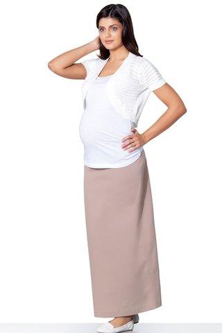 Юбка для беременных 06511 бежевый