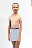 Kids set: T-leotard nude + skirt