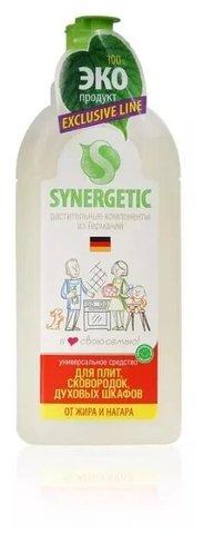 Synergetic для кухонных плит и посуды, от жира и нагара флакон 1л (флиптоп)