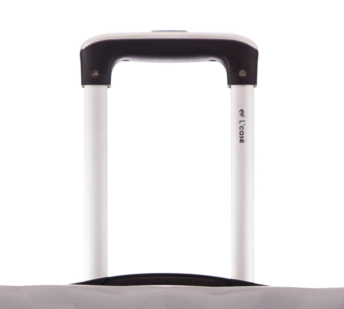 Чемодан со съемными колесами L'case Phuket-20 Серебро ручная кладь (S)