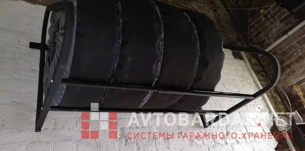 Раздвижная полка для колес XXL (до R22, с шириной каждой шины до 325мм). Нагрузка 300 кг