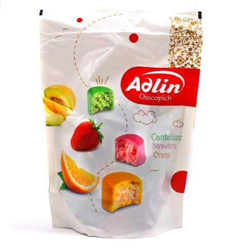 Пишмание со вкусом дыни, клубники и апельсина, Adlin, 350 г