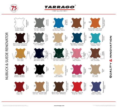 Набор по уходу за обувью из нубук и замши Tarrago (очиститель+пропитка+краска+щётка)