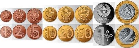Разменные монеты Белоруссии 2009 год