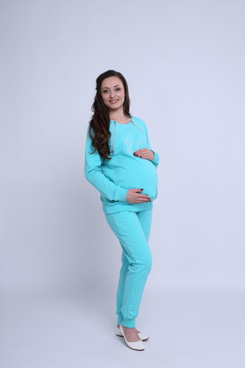 Спортивный костюм для беременных и кормящих 08369 ментол