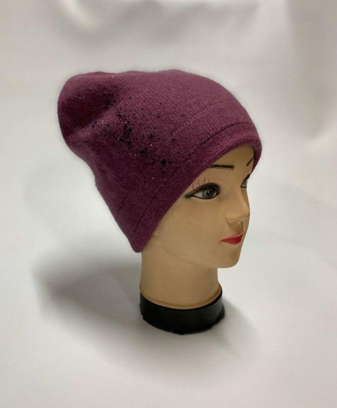 Женская шапка фиолетовая SH H9509-1A purple