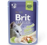 Brit Premium Cat Jelly Trout Fillets Консервы для кошек филе форели в желе 24х85 г. (Пауч) (19934)