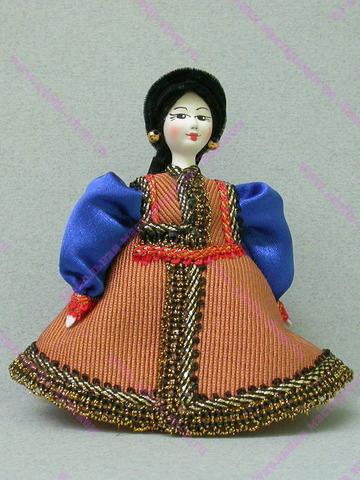 Кукла в калмыцком костюме