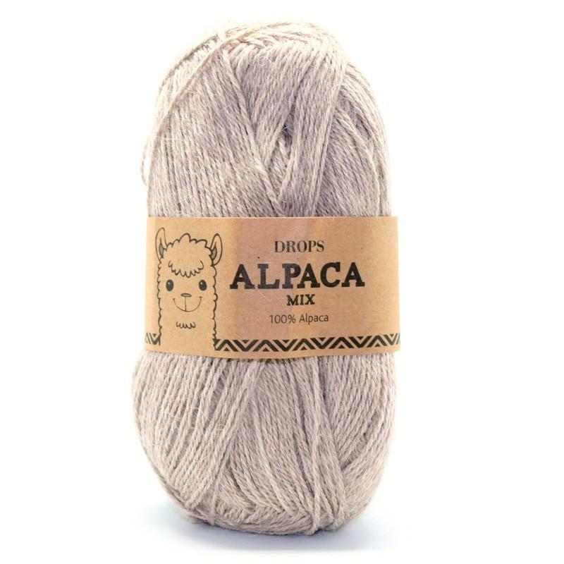 Пряжа Drops Alpaca 2020 светло-бежевый меланж