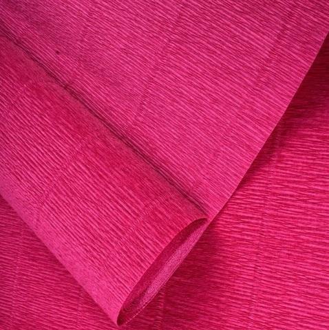 Бумага гофрированная, цвет 547 темно-розовая пудра, 180г, 50х250 см, Cartotecnica Rossi (Италия)