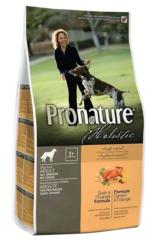Беззерновой корм для взрослых собак, Pronature Holistic, с уткой и апельсином