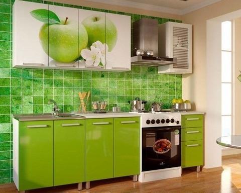 Кухня Яблоко 1,8м лайн глянец